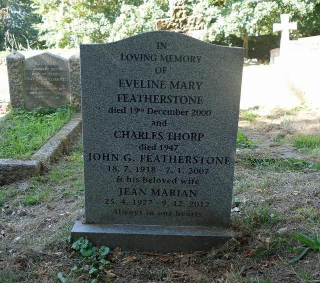 Featherstone gravestones - Stratfield Mortimer, Berkshire