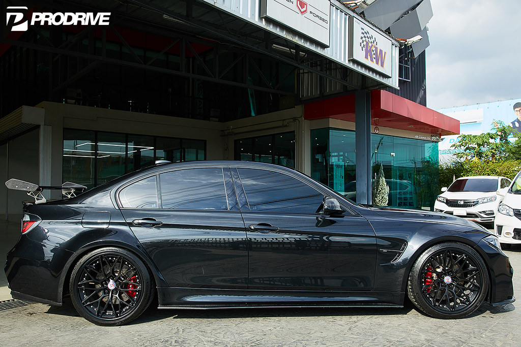 Bmw F30 3 Series With M3 Body Kit With Hre S200 Wheels In Satin Black A Photo On Flickriver