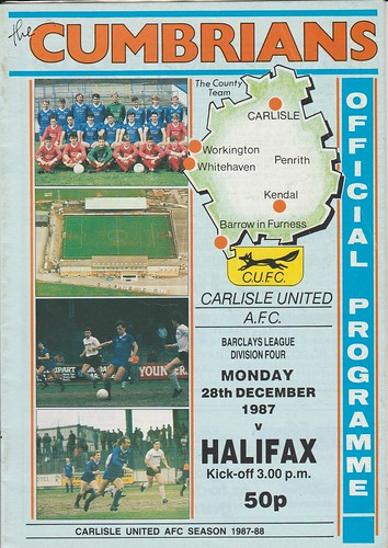 Carlisle United V Halifax Town 28-12-87 | by cumbriangroundhopper