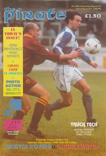 Bristol Rovers V Carlisle 20-1-96   by cumbriangroundhopper