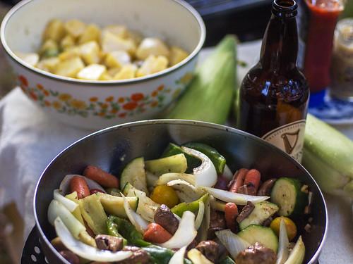Summer vegetable grilling