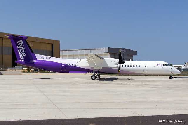 Flybe Bombardier Dash 8-Q402 |  G-JECP  |  LMML