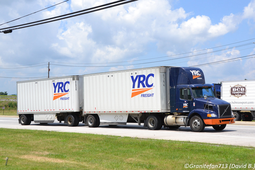YRC Freight Volvo VNM with Doubles | Trucks, Buses, & Trains