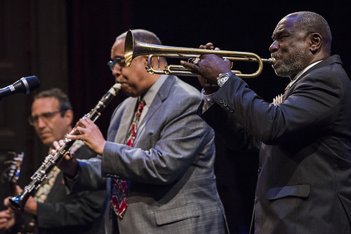 Seva Venet, Gregg Stafford Dr. Michael White Quartet at the WWOZ Groove Gala on September 6, 2018. Photo by Ryan Hodgson-Rigsbee www.rhrPhoto.com