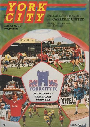York City V Carlisle United 14-4-90 | by cumbriangroundhopper