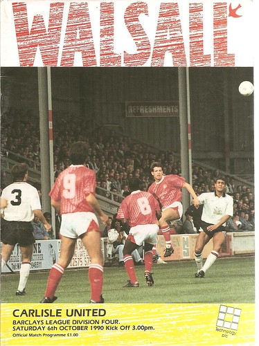 Walsall V Carlisle United 6-10-90 | by cumbriangroundhopper