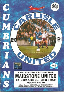 Carlisle United V Maidstone United 8-9-90 | by cumbriangroundhopper