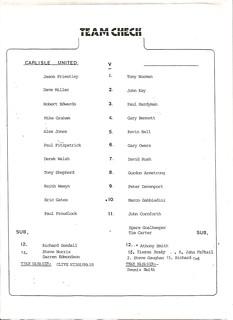 Carlisle V Sunderland 7-8-90 | by cumbriangroundhopper