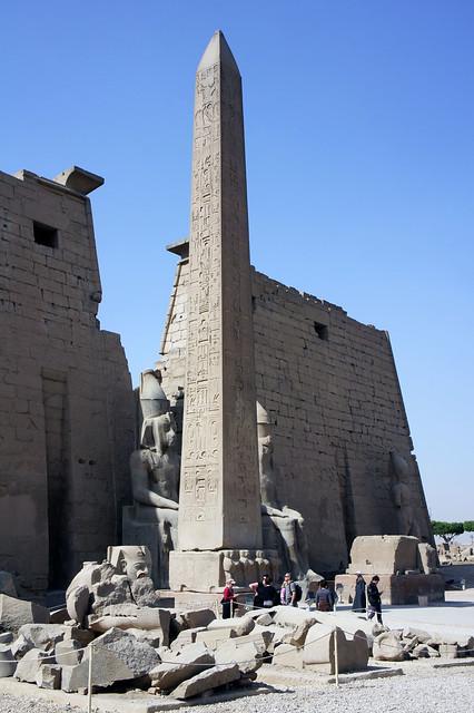 An obelisk at Egypt's Luxor temple