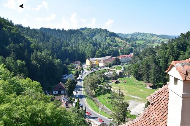 Vista desde el Castillo de Bran (Transilvania, Rumanía, 18-8-2018)