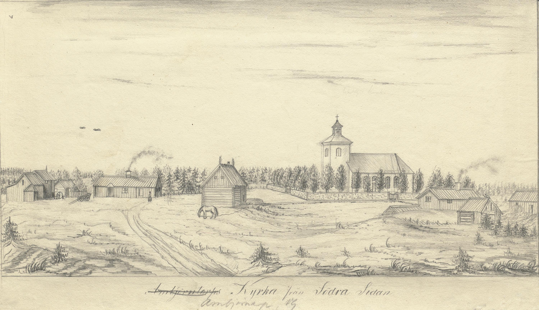 Ambjörnarp Church and village, Västergötland, Sweden