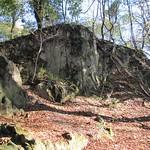 Vulkanisches Felsgestein auf dem Drachenfels