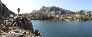 2862 The PCT was cut into the precipitous northern shore of Heather Lake - a fun trail to hike! | by _JFR_