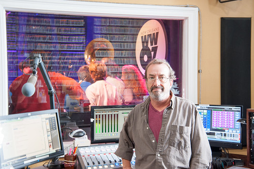 Ron Phillips hosts Riverdale High School on School Groove at WWOZ - Aug. 29, 2018. Photo by Michael E. McAndrew.