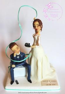 Wedding cake topper Dario e Mara...