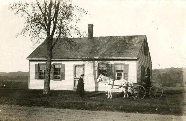 House and Buggy, Real Photo Postcard, Takoma Park, Maryland, Circa 1908