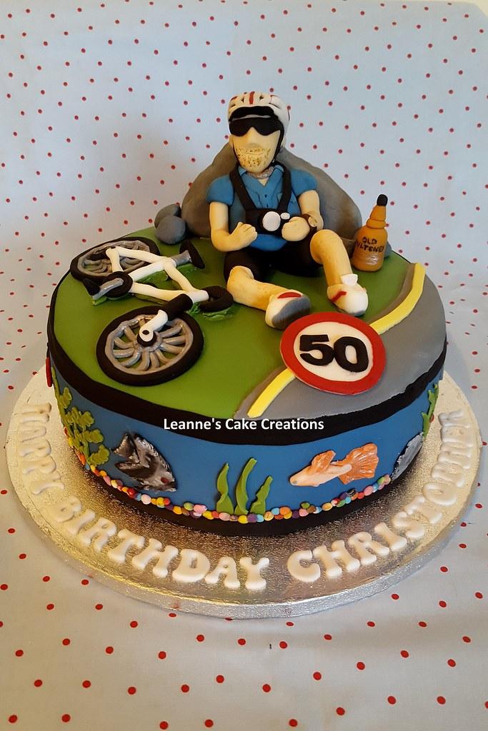 Peachy Aquarium Cycling Cake Leanne Maskell Flickr Funny Birthday Cards Online Necthendildamsfinfo