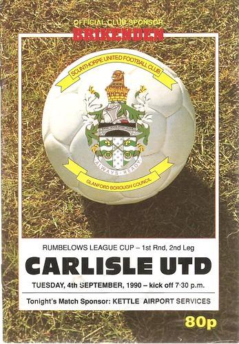 Scunthorpe United V Carlisle United 4-9-90 | by cumbriangroundhopper