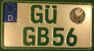 GERMANY, GUSTROW 2000's---SMALL AGRICULTURAL TRACTOR PLATE | by woody1778a