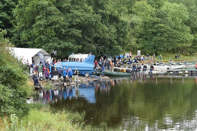 Bluebird K7 on Loch Fad