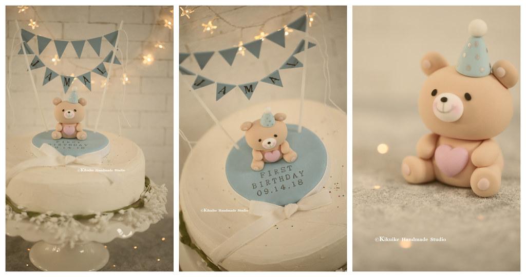 Strange Handmade Baby Bear Custom Birthday Cake Topper Teddy Bear Flickr Personalised Birthday Cards Veneteletsinfo