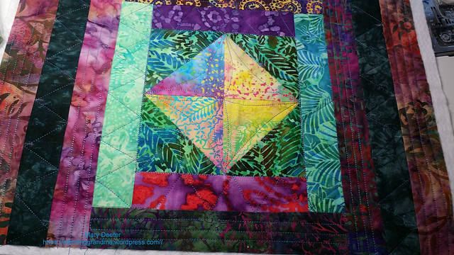 quilting detail batik placemats