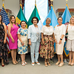 Thu, 09/20/2018 - 13:46 - On Thursday, September 20, 2018, the William J. Perry Center for Hemispheric Defense Studies honored General Salvador Cienfuegos Zepeda, Secretary of National Defense of Mexico, and Escola Superior de Guerra (ESG), National War College of Brazil, with the 2018 William J. Perry Award for Excellence in Security and Defense Education. Named after the Center's founder, former U.S. Secretary of Defense Dr. William J. Perry, the Perry Award is presented annually to individuals who and institutions that have made significant contributions in the fields of security and defense education. From the many nominations received, awardees are selected for achievements in promoting education, research, and knowledge-sharing in defense and security issues in the Western Hemisphere. Awardees' contributions to their respective fields further democratic security and defense in the Americas and, in so doing, embody the highest ideals of the Center and the values embodied by the Perry Award.