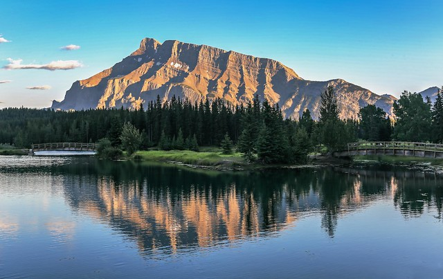 Mount Rundle in Evening Light