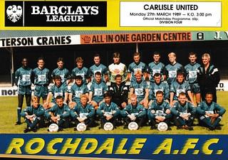 Carlisle United V Rochdale 27-3-89 | by cumbriangroundhopper