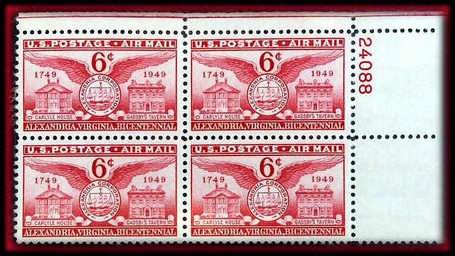 1949 6¢ Founding of Alexandria, VA