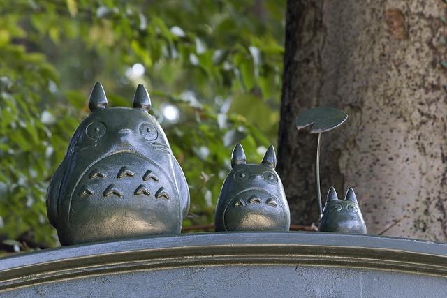 Totoros at entrance to the Ghibli Museum, Mitaka, Tokyo, Japan