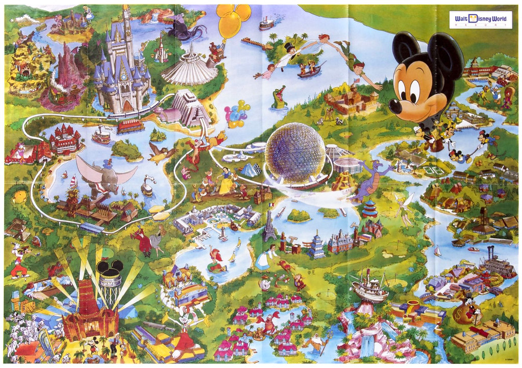 1992 Walt Disney World Resort Map | Tom Simpson | Flickr