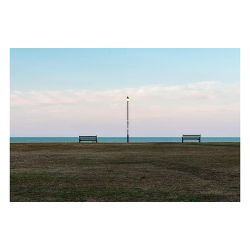 lines tamron d750 nikon streetlamp space topographics mundane ordinary sunset sky banal imanoot angles benches desolation johnpettigrew sea deserted gorleston seafront 2470mm documenting seaside