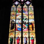 Das Beweinungsfenster stammt aus dem Jahre 1847