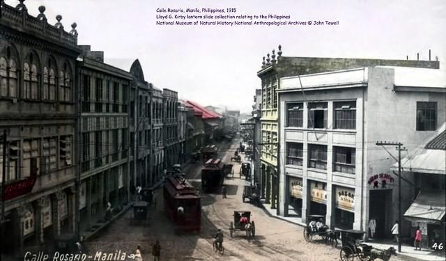 Calle Rosario, Manila, Philippines, 1915