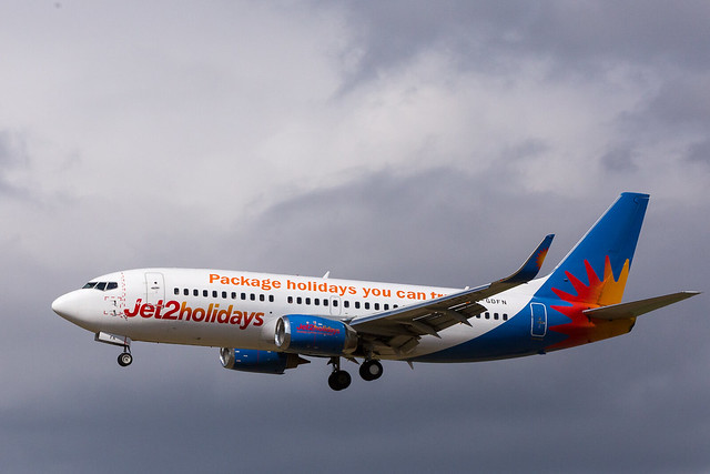 Jet2 Holidays G-GDFN Boeing 737-300 at Newcastle Airport