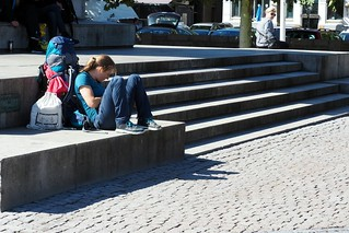 Tourist at rest