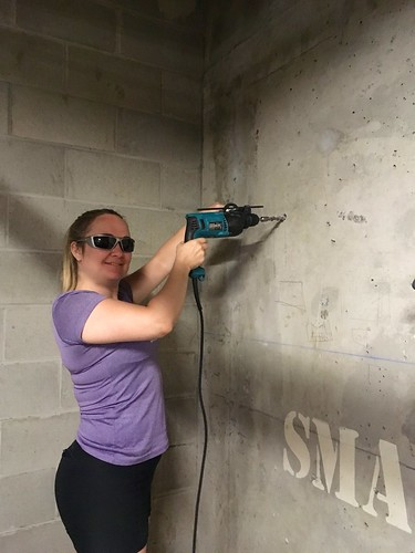 Beth with a hammer drill | by Beth77