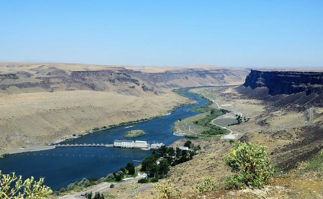 Dam Along the Snake River