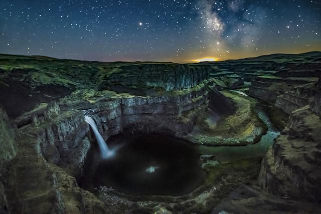 Palouse Falls Milky Way   -5195-08-18-