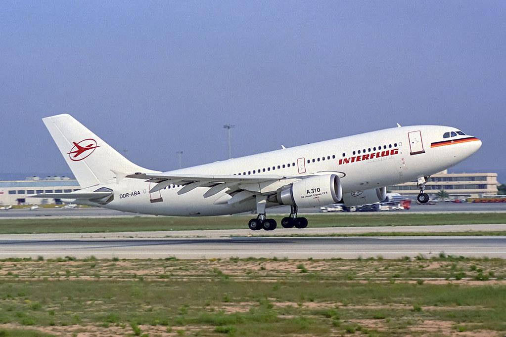 Airbus A310-304ET Interflug DDR-ABA PMI LEPA