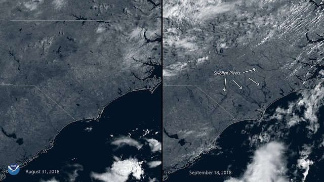 GOES East Sees Swollen Rivers After Hurricane Florence