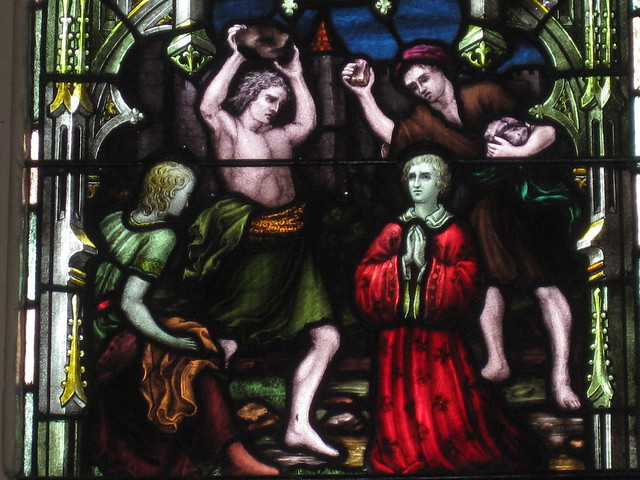 Detail of the Saint Stephen Stained Glass Window; St Mark the Evangelist Church of England - George Street, Fitzroy