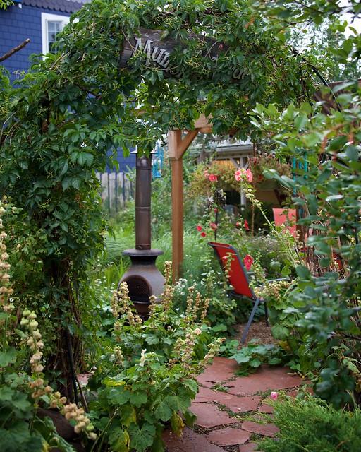 Courtyard Garden of Rustic Mountain Town