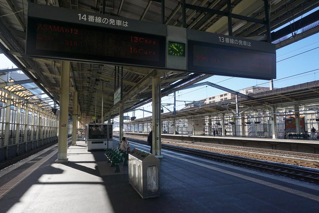 新幹線プラットフォーム