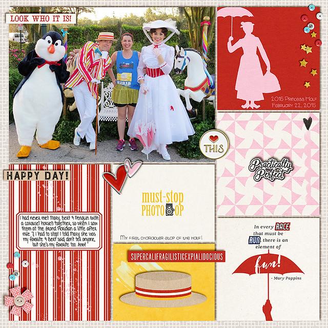 Practically Perfect. Meeting Mary Poppins, Bert and Penguin at rundisney Princess Half Marathon