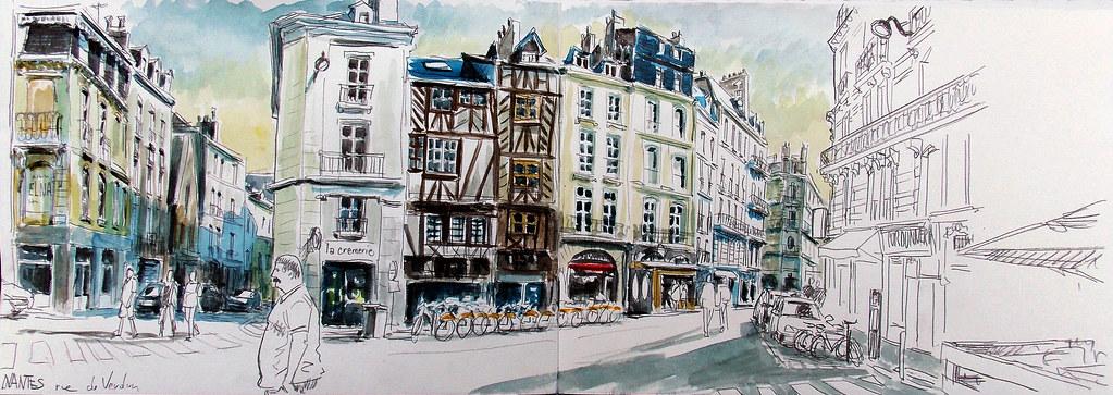 Nantes Rue De Verdun A La Sortie Du Magasin Dalbe Ou Je V Flickr