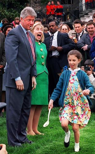 Bill Clinton Annual White House Easter Egg Hunt 1993