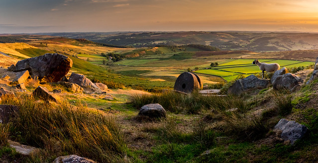 Evening at Stanage Edge