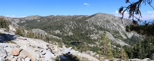 1270 One of the Grouse Lakes below us and Jakes Peak (left of center) from the Tahoe-Yosemite Trail   by _JFR_